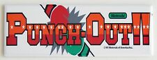 Punch Out Marquee FRIDGE MAGNET (1.5 x 4.5 inches) arcade video game mike tyson