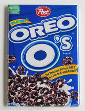Oreo O's FRIDGE MAGNET (2.5 x 3.5 inches) cereal box chocolate cookies