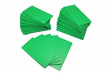 LEGO MiniFigure Base Plate 8x16 Green - LOT of 50 - Thin Small Stud Brick Table