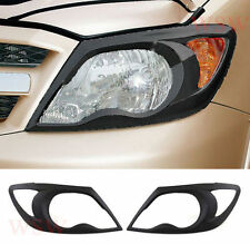MATT MATTE BLACK HEADLIGHT LAMP COVER PICK UP TOYOTA HILUX VIGO SR5 MK6 05 06 11