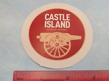 Beer STICKER ~*~ CASTLE ISLAND Brewing Co ~*~ Norwood, MASSACHUSETTS ~*~ CANON