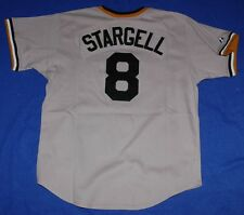 WILLIE STARGELL PITTSBURGH PIRATES MAJESTIC COOPERSTOWN SEWN JERSEY GRAY XL