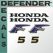 Honda 5 hp Four Stroke outboard engine decal sticker set kit reproduction 5HP