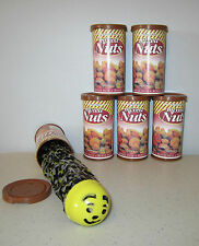 5 SNAKE IN A NUT CAN  SPRING LOADED TRICK NUTS GAG CLASSIC PRANK NOISE MAKER