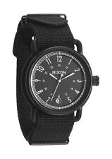 Authentic Nixon AXE All Black Nylon Watch Brand New In Box! A322 1148 A3221148