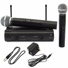 Pro VHF Dual MIC WIRELESS CORDLESS MICROPHONE SYSTEM UT4 TYPE For shure Karaoke