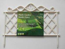 Plastic Garden Border Fence Fashionable white Colour click and clip attached 108