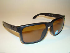 New Oakley Holbrook™ 9102-98 Matte Black Bronze POLARIZED Lens. Retail $170.