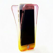 Full Protective TPU Soft Clear Gel Front&Back Case Cover Skin Rubber Shockproof