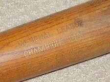 1935 Chicago Cubs World Series Bat Gabby Hartnett Chuck Klein Freddie Lindstrom