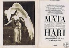 Coupure de presse Clipping 1983 Mata Hari    (4 pages)