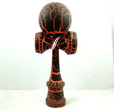 BEL Nero su Arancione Kendama All-Over Motivo Crackle Vernice Matt d2