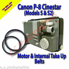 Canon P-8 Cinestar (Models S & S2) 8mm Projector Belts (Motor & Inside Take Up)