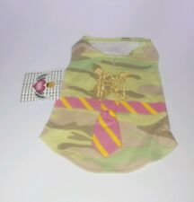 Pet Dog T-Shirt Clothes POOCHY COUTURE. SIZE S ~ Brand New! Camouflage