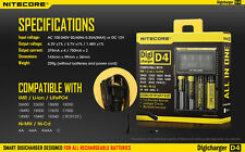 Nitecore Digi Intelligent Battery D4 Charger For AA AAA 16430 22650 18650 17670
