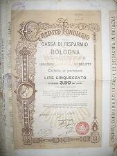 V193-CASSA DI RISPARMIO DI BOLOGNA TITOLO DA 500 £
