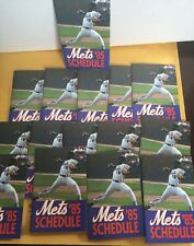 Lot Of 15 NEW YORK METS 1985 POCKET SCHEDULES DWIGHT GOODEN