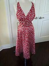 Narianna Dress size XL Red with white polka dots vintage look