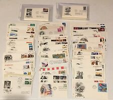 1950s - 1990s Lot 250+ FDC First Day Cover Cachet 130 Unaddress Excellent Stamps