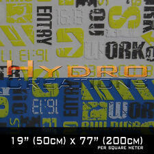HYDROGRAPHIC FILM FOR HYDRO DIPPING WATER TRANSFER FILM URBAN STREET - YELLOW