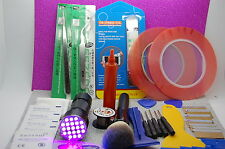 olax 21 LED UV LED TORCH,10ML LOCA GLUE,TAPES TOOLS PHONE SCREEN REPAIR KIT