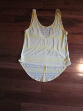 LULULEMON burn it out tank in yellow and white stripe size 6