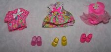 Vintage Lot of Barbie Kelly Pink doll clothes &  shoes