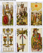 The Classic Mini Tarot Cards Reproduction of 1835 Della Rocca Soprafino