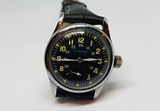 VINTAGE LONGINES WITTNAUER SUB SECOND BLACK DIAL MANUAL MAN'S WATCH