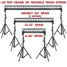 20' ft Wide Crank Triangular Trussing Mobile DJ Lighting Truss System Triangle