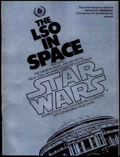 STAR WARS REPRO 1978 . ROYAL ALBERT HALL LSO IN SPACE CONCERT PROGRAMME .NOT DVD