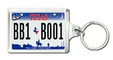 TEXAS USA LICENSE PLATE KEYRING SOUVENIR LLAVERO
