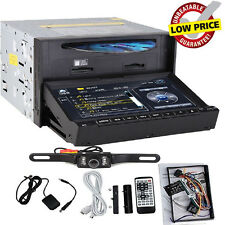 "7"" 2 DIN In Deck Car Stereo CD/ DVD Player USB/SD BT IPOD TV Radio RDS +Free CAM"