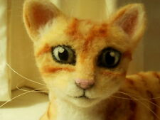 Custom Needle Felted Orange Cat Ginger Cat or Your Choice By Artist Lacharmour