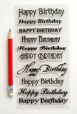 "Clear Stamps Lot (4""x7"") Happy Birthday Greetings Wishes Words FLONZ Rubber 804"