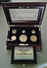 """Complete 6-Coin Set U.S.""""Seated Liberty"""" SilverCoins from Dollar to Half-Dime"""