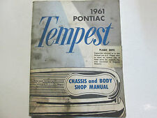 1961 GM Pontiac TEMPEST Service Repair Shop Manual Factory OEM Book Used