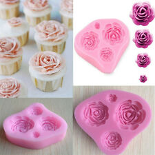 Silicone 3D Rose Flower Fondant Cake Chocolate Mold Mould Modelling Decorating D