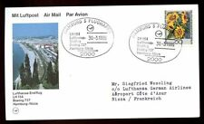 Germany 1986  First Flight Cover FFC, Hamburg - Nizza #C5000