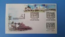 Mosque in Malaysia Masjid Negara and Kuala Lumpur cancellations FDC 2015