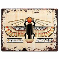 PP0800 Egyptian Painting Chic Plate Sign Home Store Shop Restaurant Cafe Decor