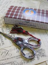 Sajou Hand Paired Embroidery Scissors- Mauchaline Ware Scottish Tartan