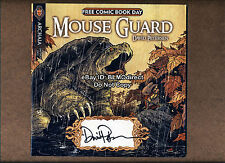 1 HTF Mouse Guard Fraggle Rock FCBD 2010 Signed By David Petersen Archaia