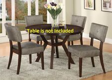 Unique Modern Acme Dining Chairs 2pc set in Espresso Finish Furniture Chair