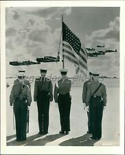 1941 US Flag is Held During Aerial Salute Original News Service Photo