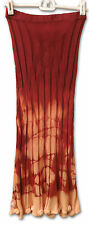 NWOT Stretch Jersey Knit Ribbed OMBRE TIE DYED Sweater Skirt with Roses XS/S