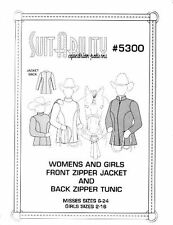 HORSE  WESTERN  SUITABILITY  SHOWMANSHIP JACKET OR TUNIC SEWING PATTERNS - 5300