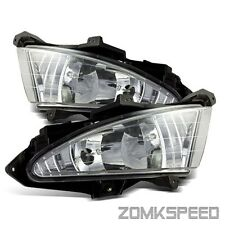 For 07-10 Hyundai Elantra Clear Crystal Fog Lights Bumper Driving Lamp w/ Switch