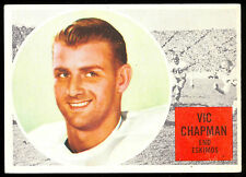 1960 TOPPS CFL FOOTBALL #11 VIC CHAPMAN EX-NM EMONTON ESKIMOS CARD