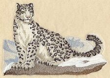 Embroidered Fleece Jacket - Snow Leopard M2110 Sizes S - XXL